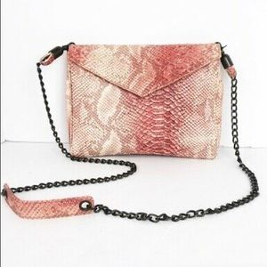 House of Harlow pink jade crossbody clutch mint